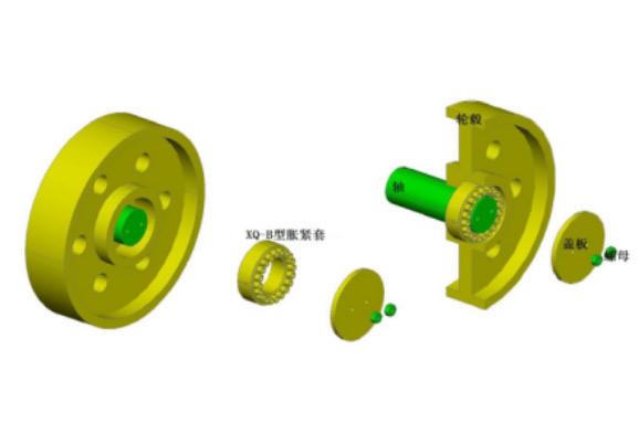 兴旗科技新型胀紧套针对特殊设备设计产品(特级高强度大扭矩)